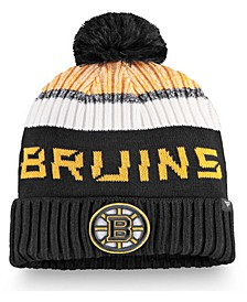 Authentic Headwear Boston Bruins 2019 Authentic Pro Rinkside Goalie Pom Knit