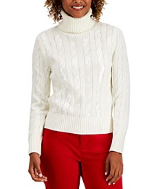 Sequin-Stripe Turtleneck, Created for Macy's