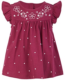Baby Girls Floral & Flutter Sunsuit, Created for Macy's