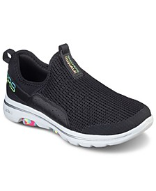 Women's GOwalk 5 Parade Slip On Walking Sneakers from Finish Line