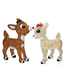 Pre-Lit Rudolph Reindeer and Clarice Christmas Outdoor Decor
