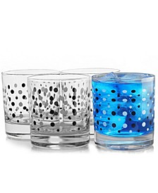 Istanbul 4 Piece 10.25 Ounce Double Old Fashioned Glass Cup Set