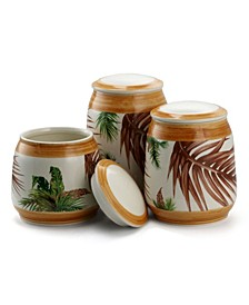 Elama 3 Piece Ceramic Kitchen Canister Collection