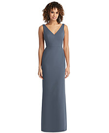 Social Bridesmaids Bow-Back Chiffon Gown