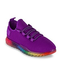 Women's Affinity Lace Up Rainbow Sole Sneakers