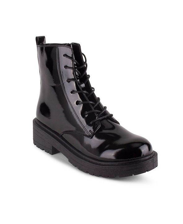 Wanted Women's Riot Lace Up Combat Booties