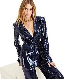 CULPOS X INC Sequin Blazer, Created for Macy's