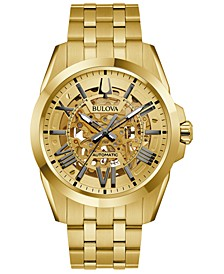 Men's Automatic Classic Sutton Gold-Tone Stainless Steel Bracelet Watch 46mm