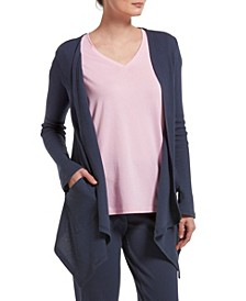 Women's Solid Pajama Cardigan