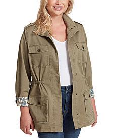 Jessica Simpson Trendy Plus Size Utility Jacket
