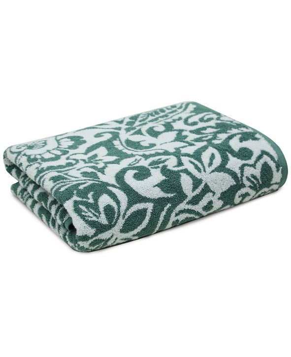 "Charter Club 30"" x 56"" Elite Cotton Scroll Paisley Bath Towel, Created for Macy's"
