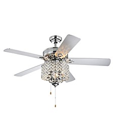 "Bene 52"" 5-Light Indoor Hand Pull Chain Ceiling Fan with Light Kit"