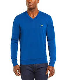 Men's V-Neck Cotton Sweater