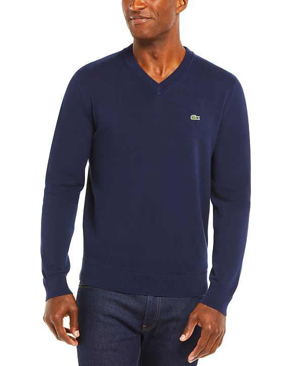 Lacoste Men's V-Neck Cotton Sweater