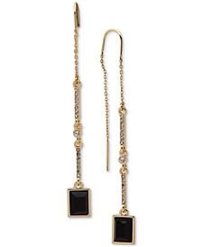 Gold-Tone Crystal & Stone Threader Earrings