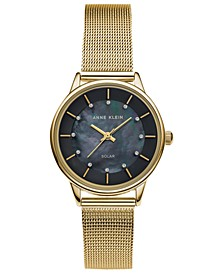 Women's Considered Solar Gold-Tone Mesh Bracelet Watch 32mm