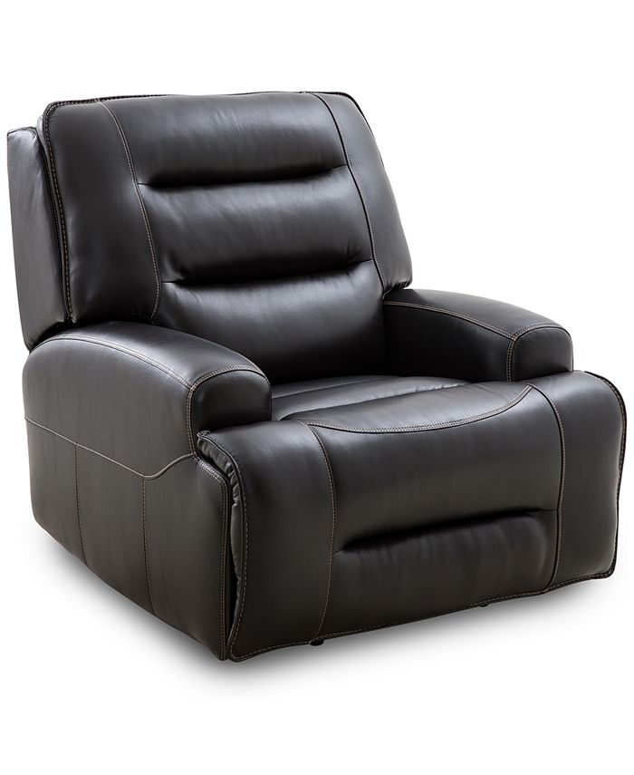 Furniture - Adalton Leather Recliner with Power Headrest