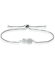 Cubic Zirconia Pineapple Bolo Bracelet in Sterling Silver, Created for Macy's
