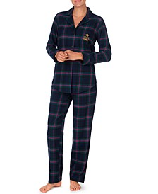 Brushed Twill Plaid Pajamas Set