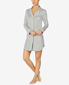 로렌 랄프로렌 잠옷 슬립 셔츠 Lauren Ralph Lauren Notch-Collar Sleep Shirt