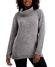 Solid Chenille Cowlneck Sweater, Created for Macy's