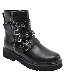 Women's Linda Lug Sole Moto Booties