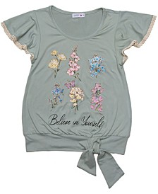 Girls Sage Floral Tee