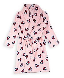 Big Girls Heart Flag Plush Robe