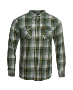 1950s Men's Shirt Styles – Dress Shirts to Casual Pullovers Levis Mens Flannel Worker Shirt $32.70 AT vintagedancer.com