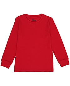 Toddler Boys Crew Neck Basic Solid Thermal T-shirt
