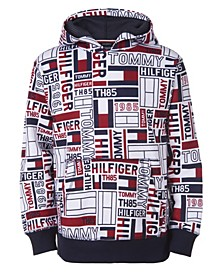 Big Boys Exploded Flag Print Hoodie