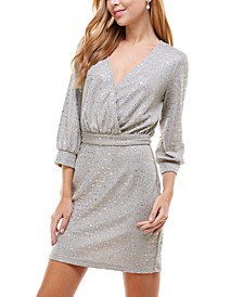 Juniors' Metallic Sheath Dress