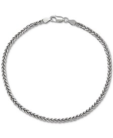Wheat Link Ankle Bracelet in Sterling Silver, Created for Macy's