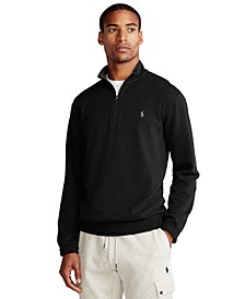 Men's  Big & Tall Jersey Quarter-Zip Pullover