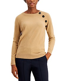 Dula Asymmetrical Button Wool Sweater