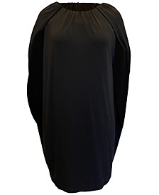 Scoop-Neck Cape Shift Dress, Created for Macy's
