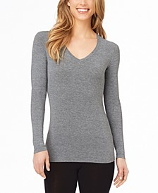 Softwear With Stretch Long-Sleeve V-Neck Top