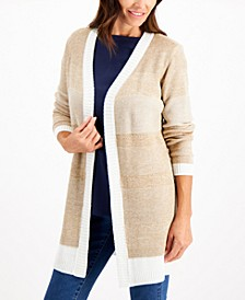 Textured Open-Front Cardigan, Created for Macy's