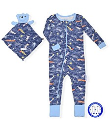 Baby Boys Onesie with Blankie Baby