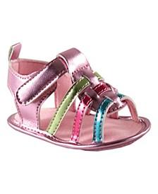 Baby Boys and Girls Metallic Crib Shoes