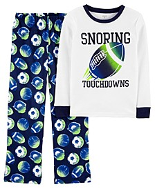 Big Boys 2-Piece Fleece and 100% Snug Fit Cotton Pajamas