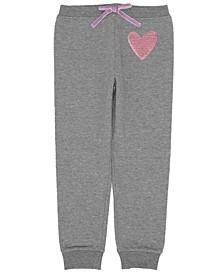 Toddler Girls Heart Inset Minky Sweatpant