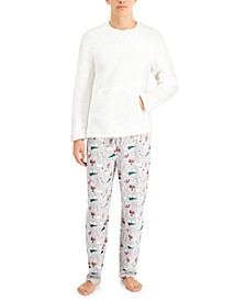 Matching Men's Polar Bears Family Pajama Set, Created for Macy's