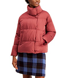Funnel-Neck Puffer Coat