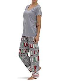Holiday In Town Modern Classic Pajama Pants