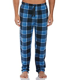 Perry Ellis Men's Relaxed-Fit Plaid Fleece Pajama Pants
