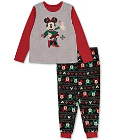 Matching Women's Holiday Mickey & Minnie Family Pajama Set