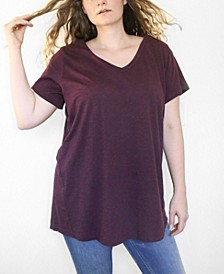 Women's Plus Size CloudSoft V-Neck Tunic
