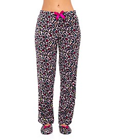 Women's Cotton Pajama Pant & Slipper 2pc Set