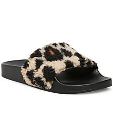 Women's Shear Furry Slides